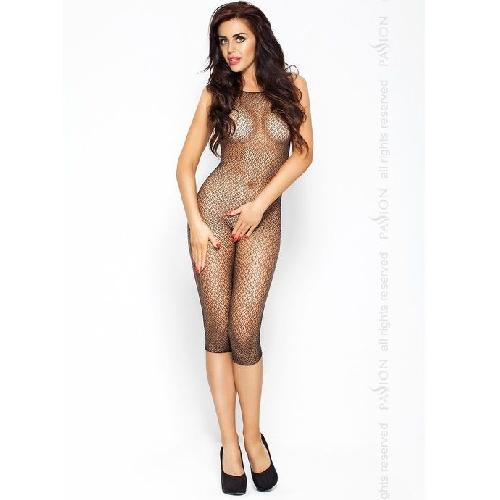 PASSION EROTICLINE CATSUIT NEGRO BS005
