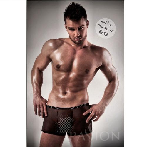 PASSION MEN 025 BOXER NEGRO TRANSPARENTE S M